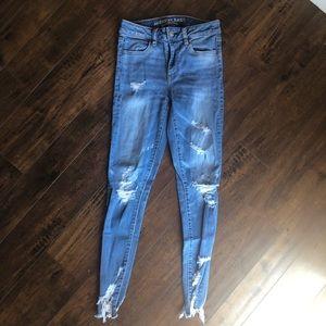 American Eagle Raw Hem Jeans